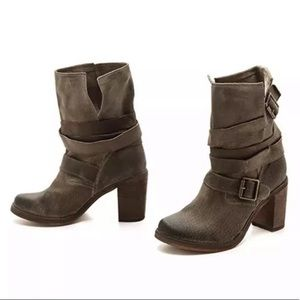 Jeffrey Campbell France Slouch Suede Moto Boots